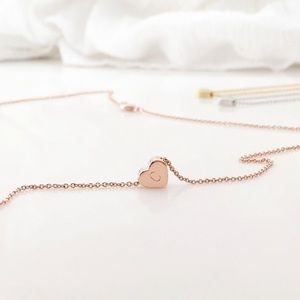 Jewelry - VANESSA Rose gold plated heart necklace w/initial